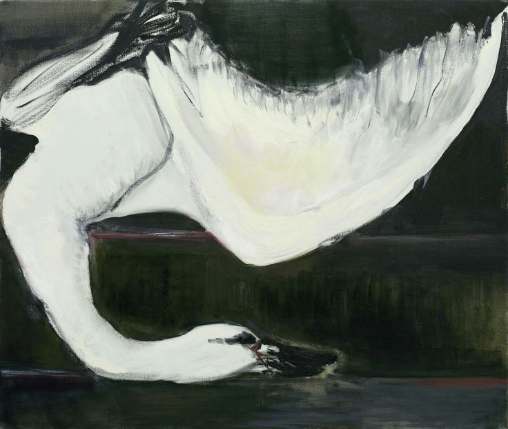 Marlene Dumas (South African - Dutch, born 1953)    The Swan, 2005  Oil on canvas, 110 x 130 cm