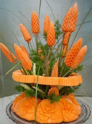Amazing vegetable art carving -