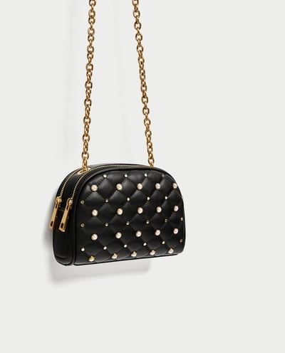 Image 3 of QUILTED PEARLY CROSSBODY BAG from Zara