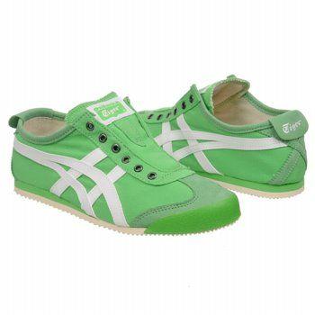 Athletics Onitsuka Tiger Women's Mexico 66 Slip-On Green Apple/White Shoes.com