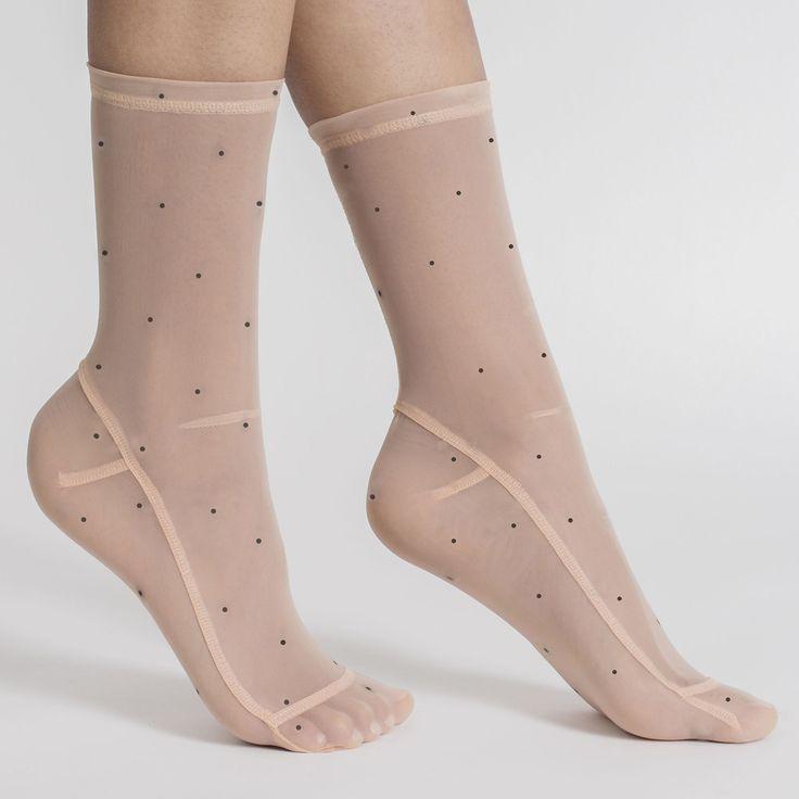 Darner Sheer Nylon Socks - Goop