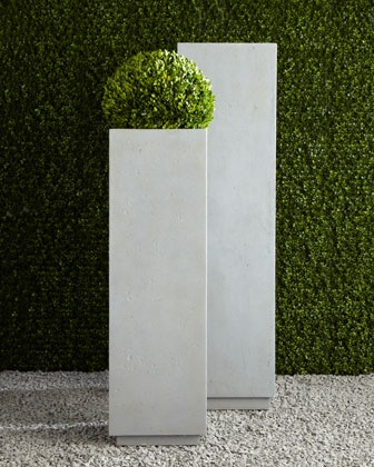 Modern Square Planters at Horchow.