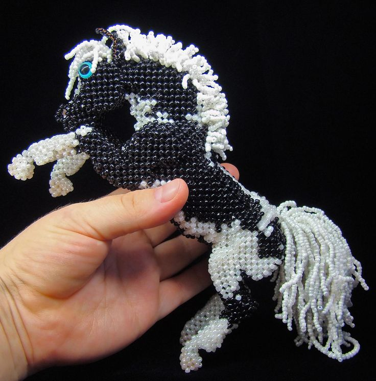 Пегая лошадка | biser.info - всё о бисере и бисерном творчестве