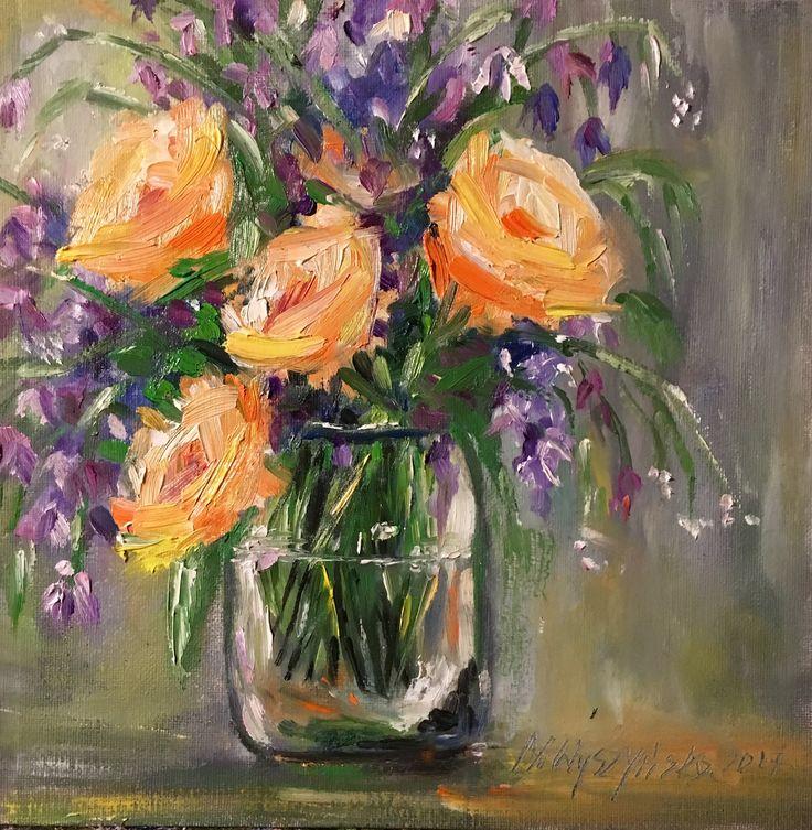 Oil painting roses Monika Wyszynska