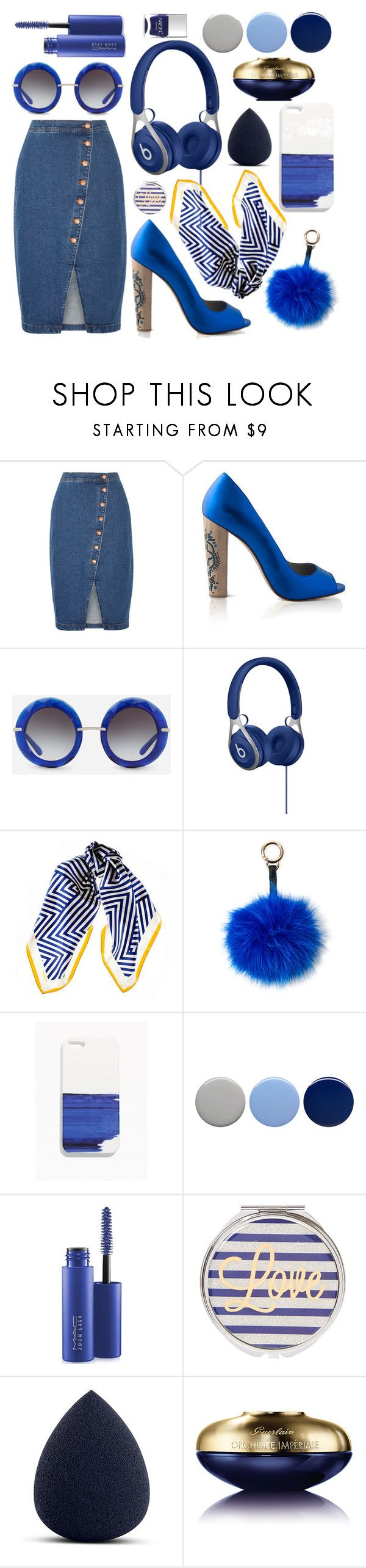 """Dark blue hue"" by mo-saique ❤ liked on Polyvore featuring Madewell, Dolce&Gabbana, Black, Surell, Burberry, MAC Cosmetics, Guerlain and Nails Inc."