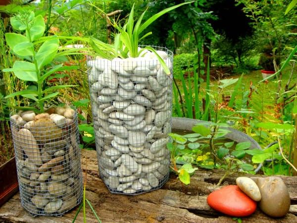 1000 id es sur le th me grillage jardin sur pinterest cl tures de jardin c - Comment fabriquer un gabion ...