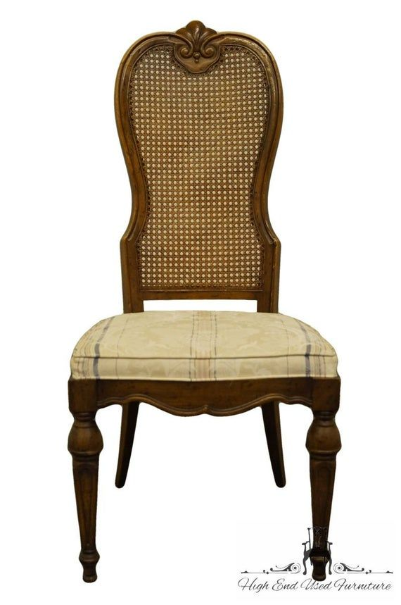 Drexel Heritage Italian Provincial Cane Back Dining Side Chair In 2020 Side Chairs Chair Furniture