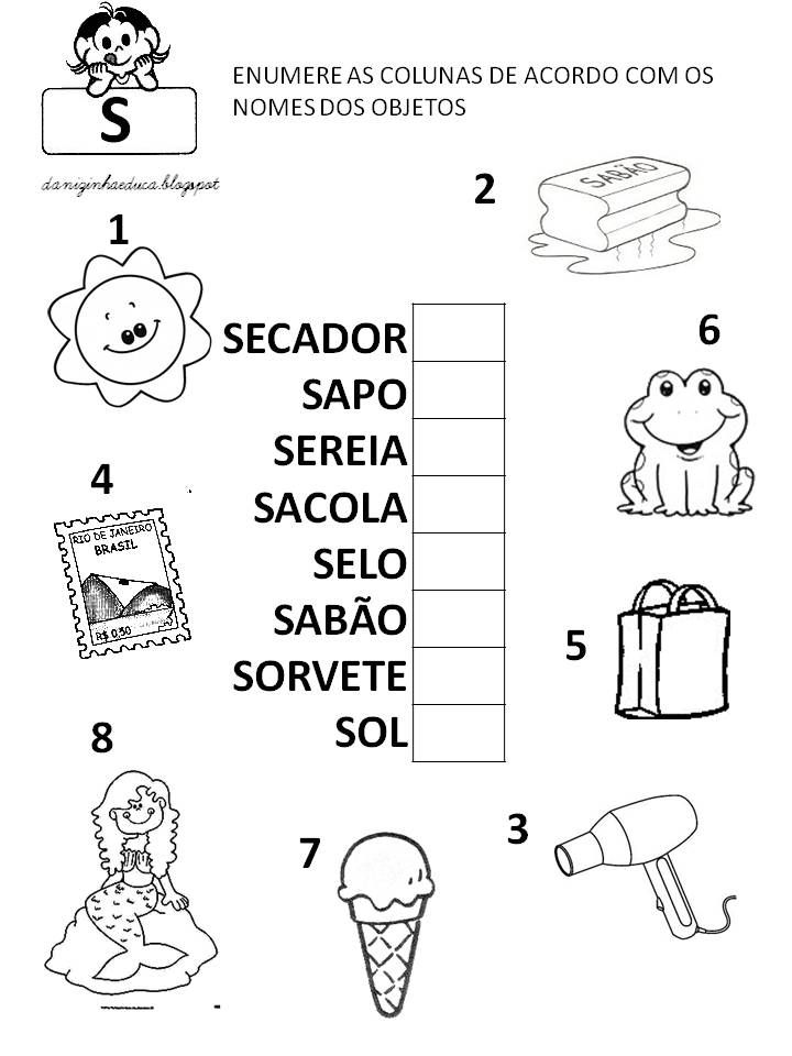 Extremamente 83 best Atividades images on Pinterest | Kid activities, Literacy  MY89