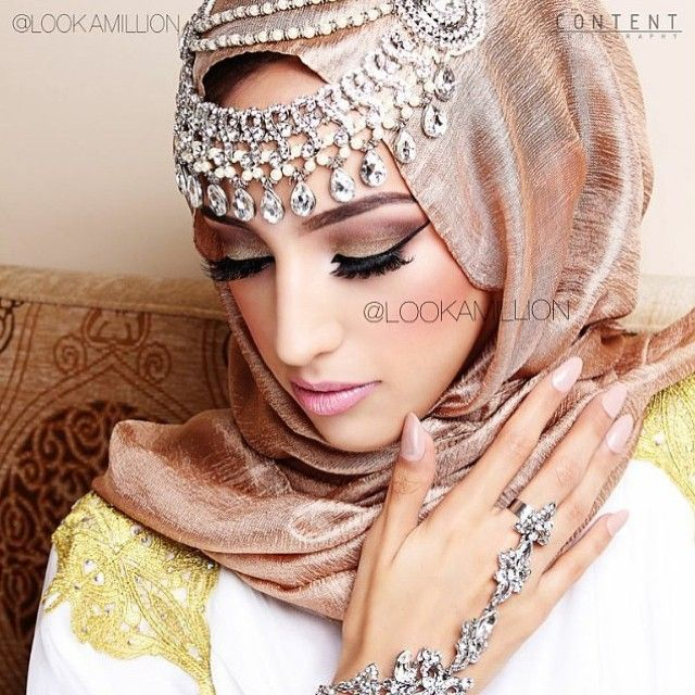 Arabic Bridal & Party Wear Makeup Tutorial Ideas Step By Step with Pictures