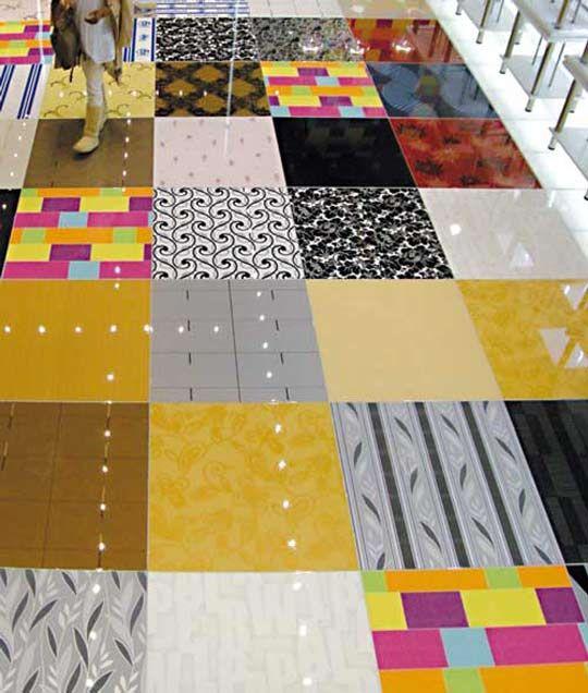 Paper Bag Floors On Concrete: Wallpaper…on The Floor?