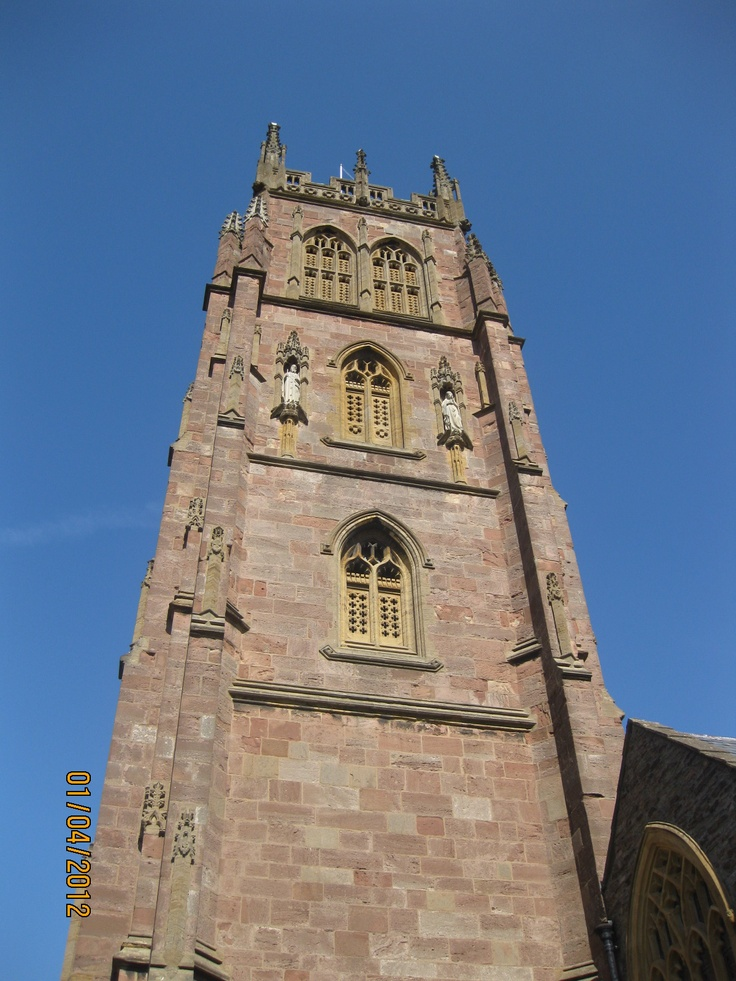 St James Church tower, Taunton, UK
