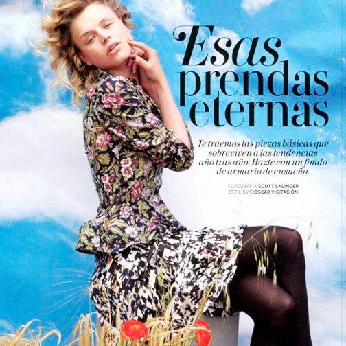 ¡Prendas estampadas, prendas eternas! // Printed styles, ethernal styles!  Skirt: Exclusive FW15 catwalk design | Media: Revista Woman