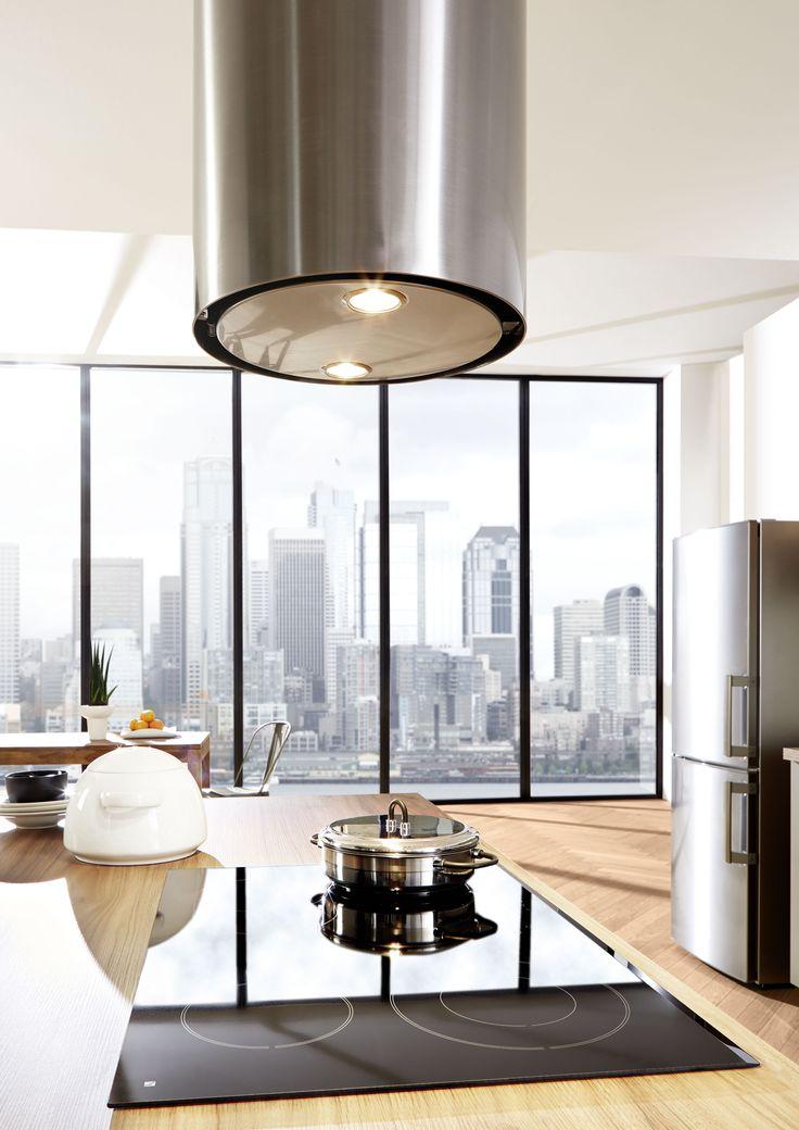 Loft küche großstadt new york holz grün