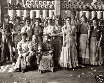Cotton mill workers...