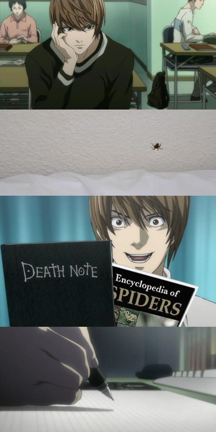 【 Otakus Understand 】 Otaku, Anime, meme, memes, funny, Death Note, Spiders