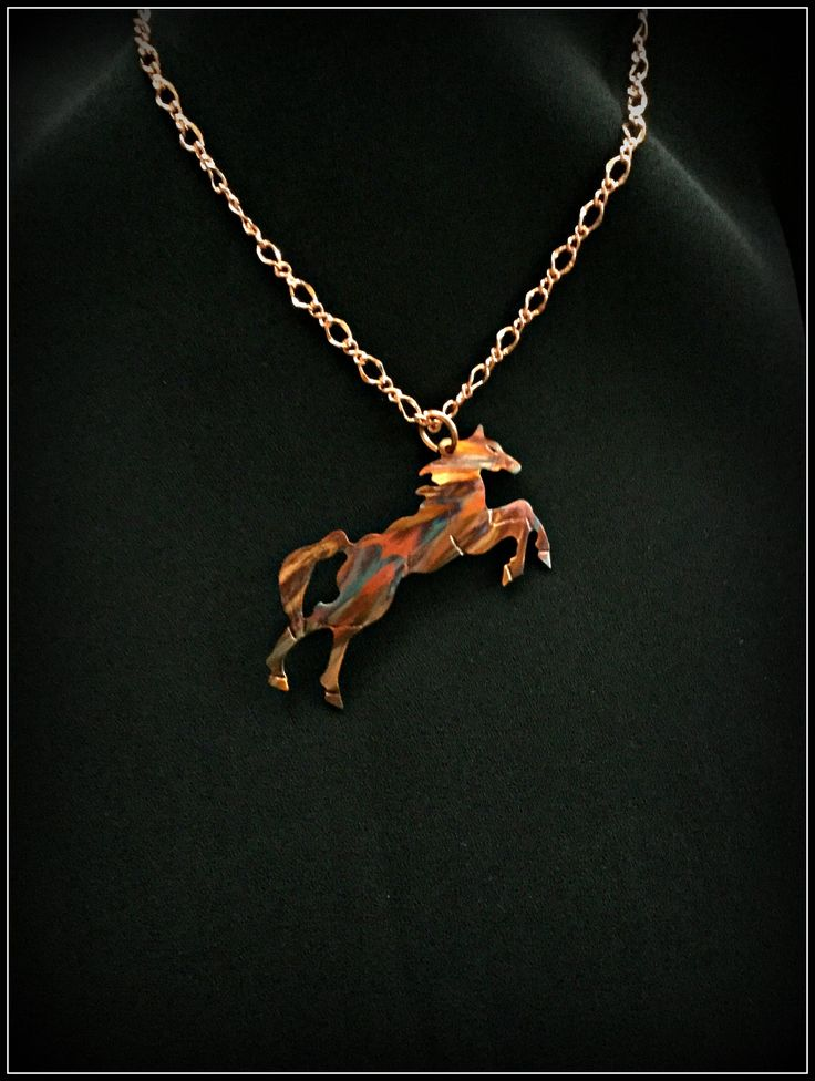 horse necklace, horse pendant, horse jewelry, cowgirl necklace, country western, wild horses, equine, equestrian, rodeo rider, flame painted by ImagesbyKentOlinger on Etsy https://www.etsy.com/ca/listing/166774297/horse-necklace-horse-pendant-horse