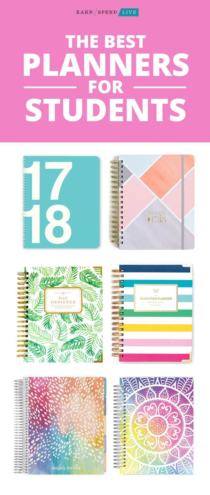 Best Planner for Students of All Ages, Best Planners for College Students, Best Planners for High School Students, Day Designer Planner, The Simplified Planner, Erin Condren Academic Planner