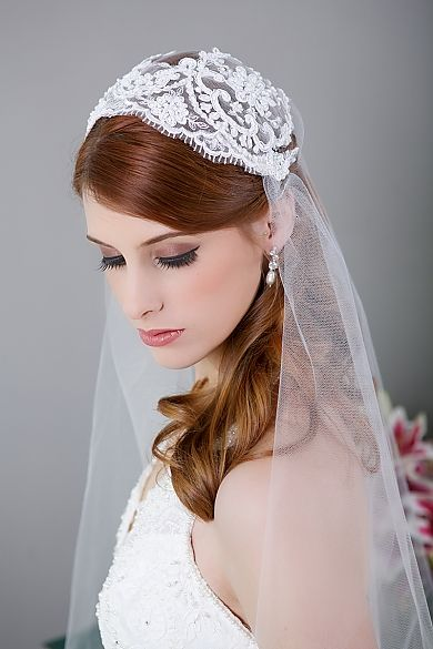 bridal veil, art deco wedding