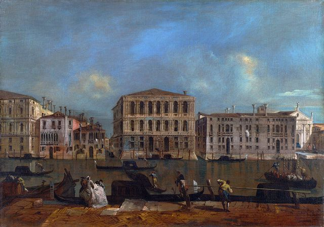 Francesco Guardi - Venice: The Grand Canal with Palazzo Pesaro [c.1775-60]