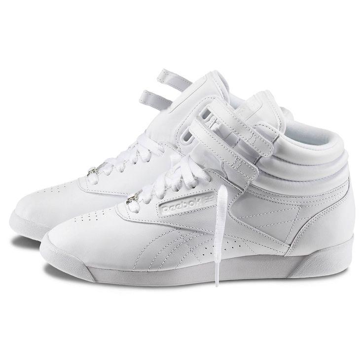 Reebok - Freestyle Hi. Pink ReebokWhite ReebokReebok FreestyleWhite ShoesWhite  SneakersShoes ...