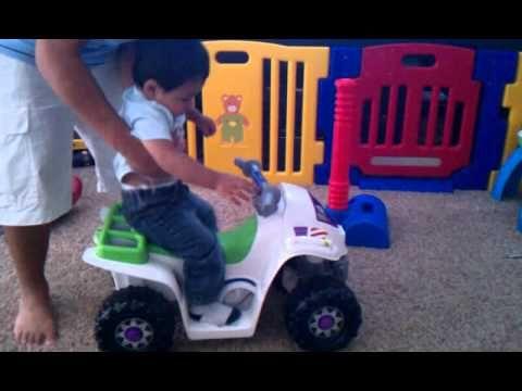 ▶ Duane rides first Power Wheels quad. - YouTube