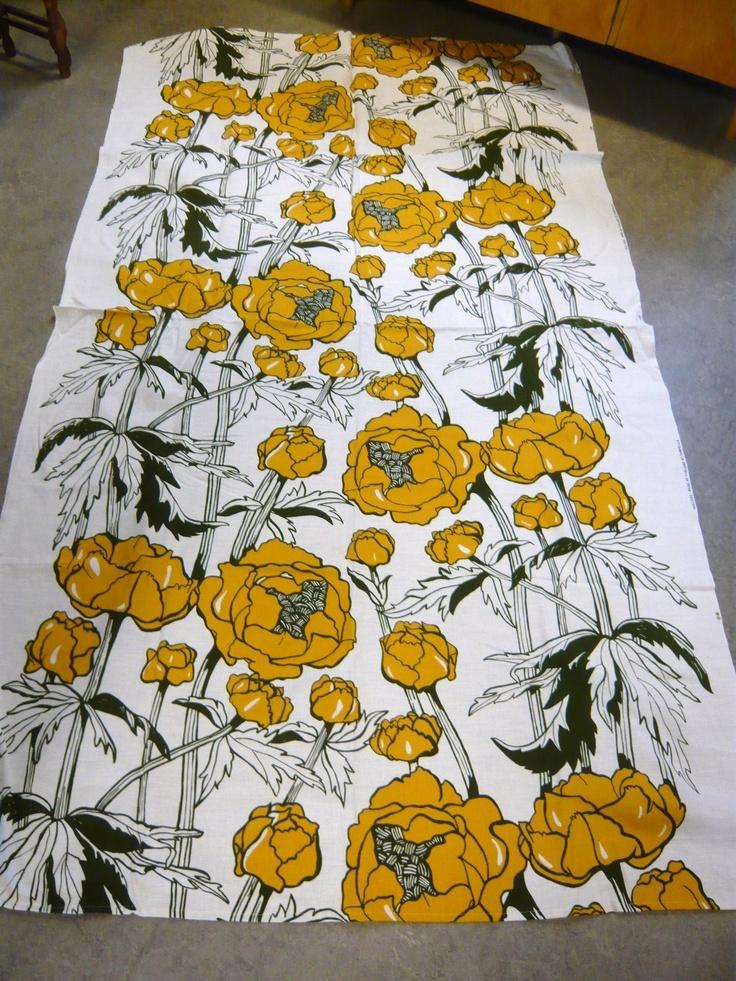 """Vintage Tampella fabric """"Kullero"""" 70's"""
