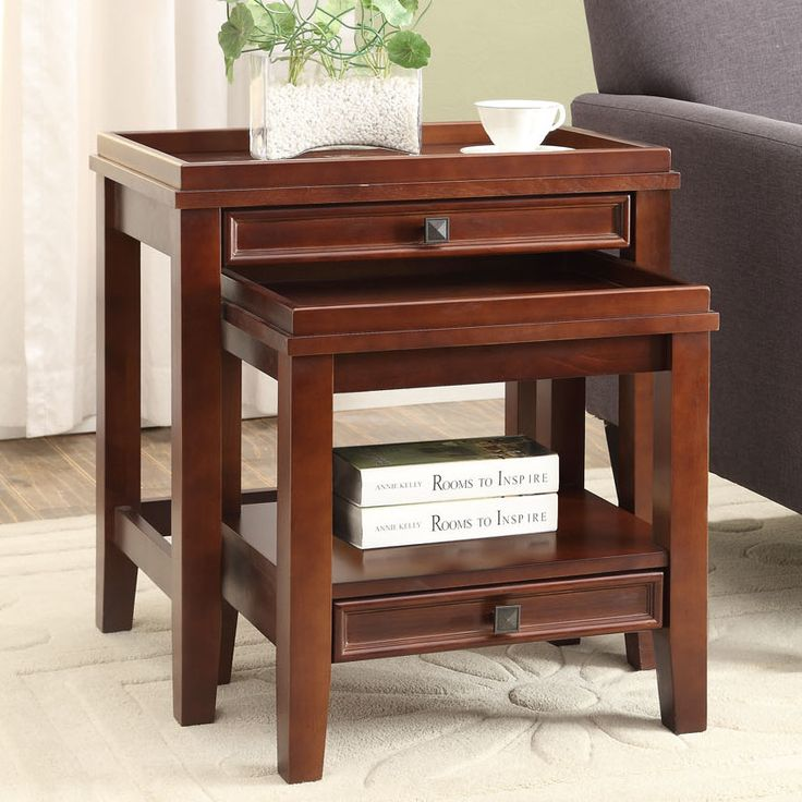 Linon wander 2 piece nesting tables reviews wayfair for Table 52 reviews