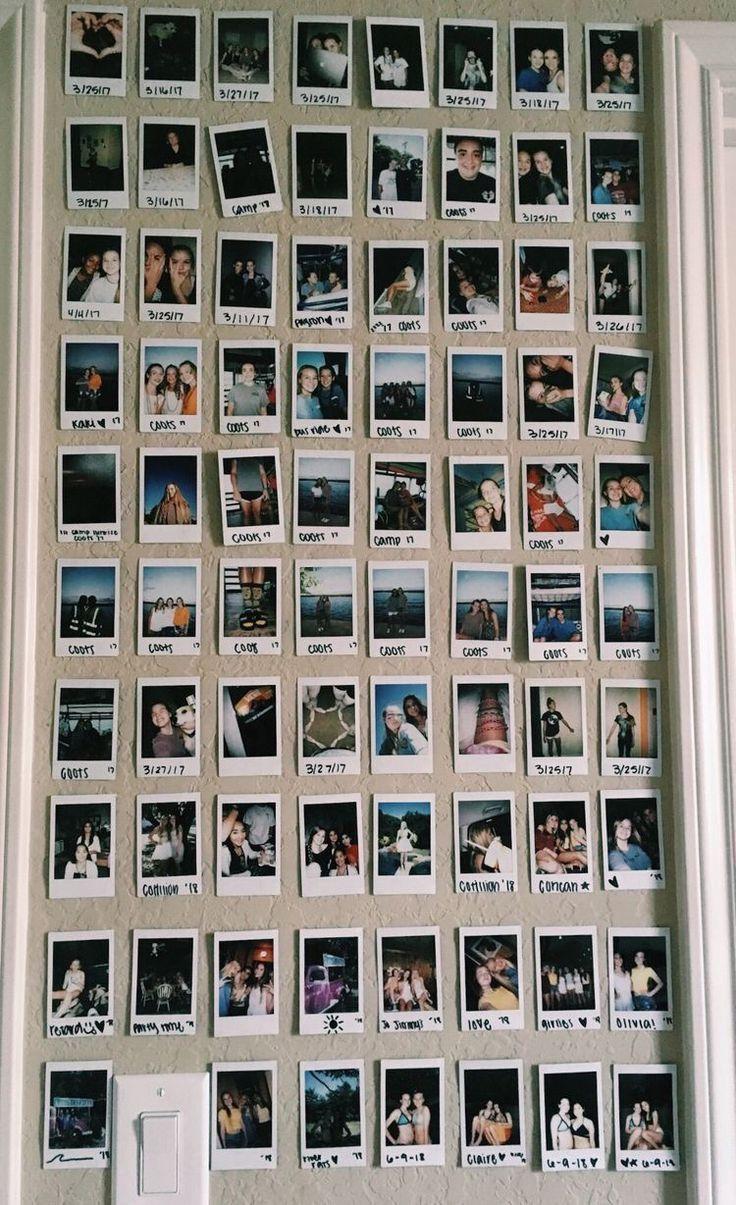Polaroid Wand Raumideen Diy Rauminspiration Studentenbudeneinrichtung