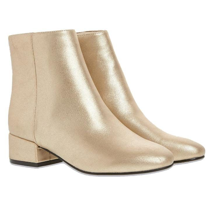 Mid heel metallic ankle boots, £49.50, Marks & Spencer