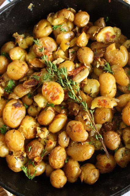Crispy Smashed Skillet Potatoes | Recipe | Skillet Potatoes, Skillets ...