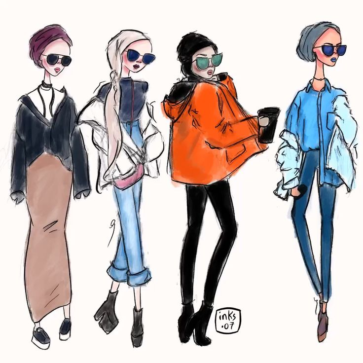 Fashion illustration by @inks.07 on Instagram