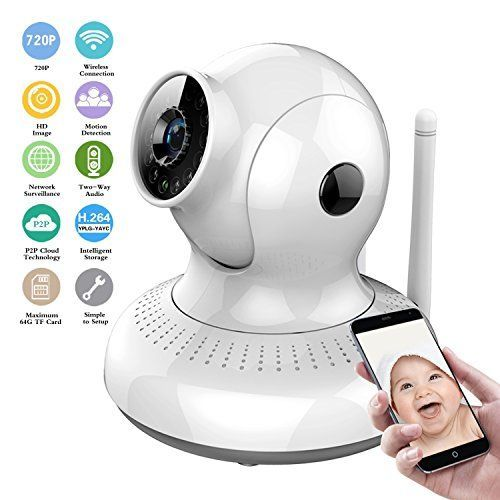 17 best simple ways to secure your home images on pinterest night wireless ip camera hd 720p wifi security camera home sciox Choice Image