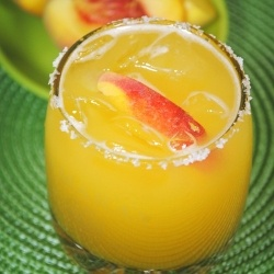 Fresh Peach MargaritaPeaches Margaritas, Bbq Cocktails, Beverages, Summer Drinks Alcohol Recipe, Peach Margarita, Bbq Parties Recipe, Food Drinks, Fresh Fruit, Adult Drinks For Summer