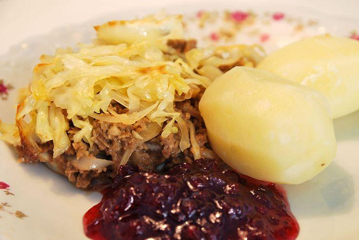 Klassisk kålpudding på vegofärs