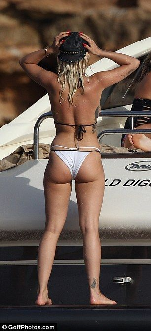 Rita Ora parties on a yacht in Ibiza #dailymail