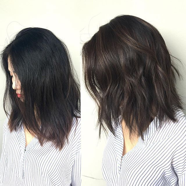 BEFORE & AFTER   Texture LOB    cut/colour by @richiemiao