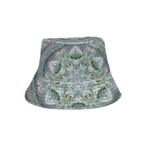 Bucket hat- women's hat-formal hat- hand painted original design- premium cotton- handmade to order-embroidery – women hat