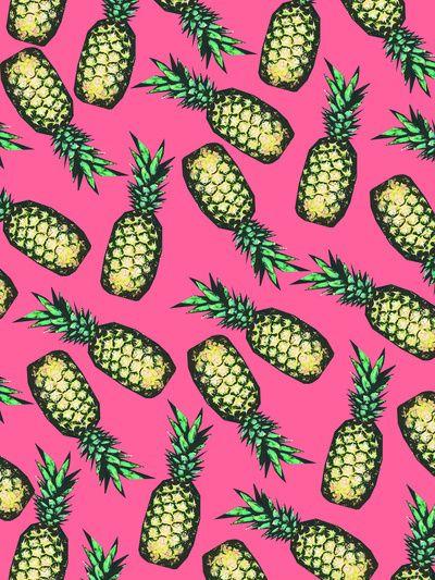 Pink Pineapple Wallpap...