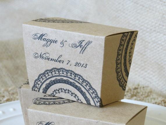 wedding favor box bon bon small gift box lace by mdcardsandgifts 20
