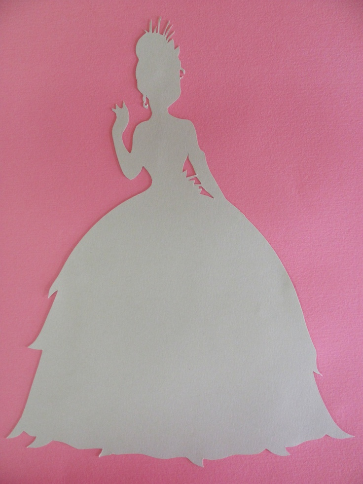 Disney inspired Princess Tiana from the Princess and the Frog silhouette  for a nursery or little girl s room  Paper Art. 43 best princess room images on Pinterest