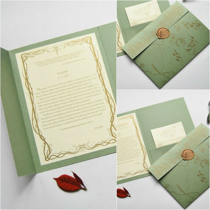 Lord of the Rings wedding invitations | EccentricOwl