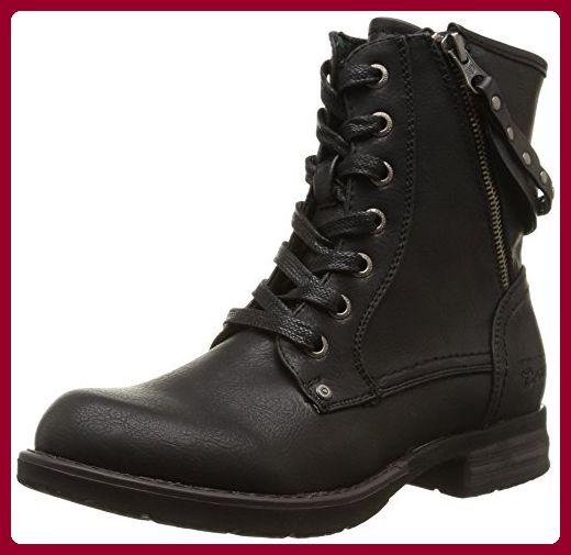 Tom Tailor Tom Tailor Damenschuhe, Damen Biker Boots, Schwarz (black), 37 EU - Stiefel für frauen (*Partner-Link)