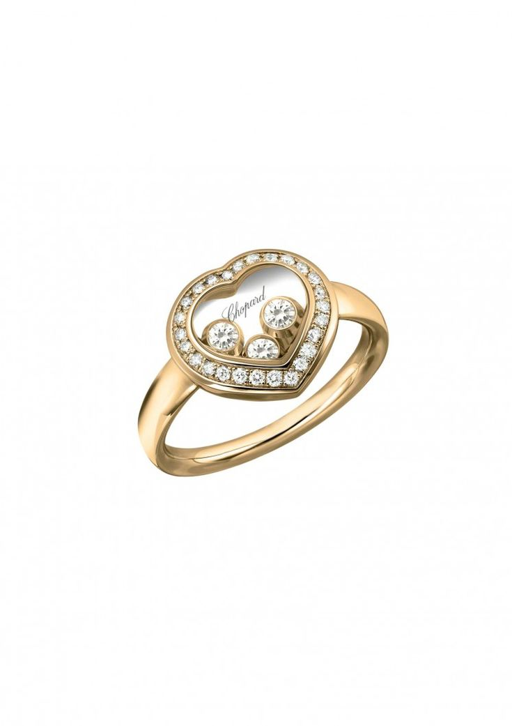 #Chopard Ring Happy #Diamonds Icons Ring #18-carat #rose gold and diamonds