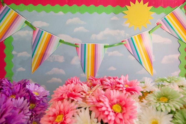 pennant with ribbon attachment: Class Decor, Classroom Decor Theme, Rainbows Collection, Rainbows Theme, Pennant Banners, Www Schoolgirlstyle Com, Rainbows Classroom, Rainbows Pennant, Boards Classroom Decor