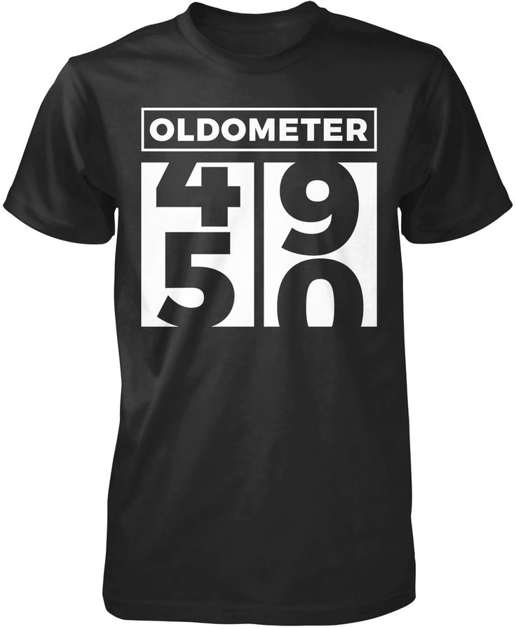 Oldometer - Turning 50 Almost fifty? Then this is the perfect t-shirt for you. Get yours now! Premium &Women's Fit T-Shirt Made from 100% pre-shrunk cotton jersey. Heathered colors contain part polyes