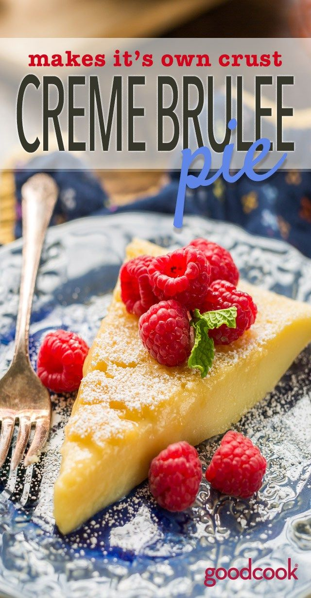 You gotta try this Impossible Custard Pie! Makes It's Own Crust Creme Brulee Pie. A delicious, elegant holiday dessert. Just 5 ingredients, and so easy to make. Tastes just like creme brulee, only better!