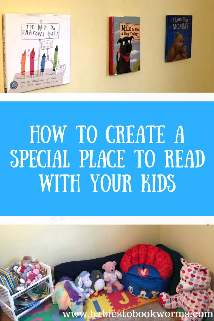 Create a special reading corner in your home to inspire your family to read! Check out this fun read aloud & reading nook décor project!    #ReadingNook #DIYBookArt #ReadingCorner