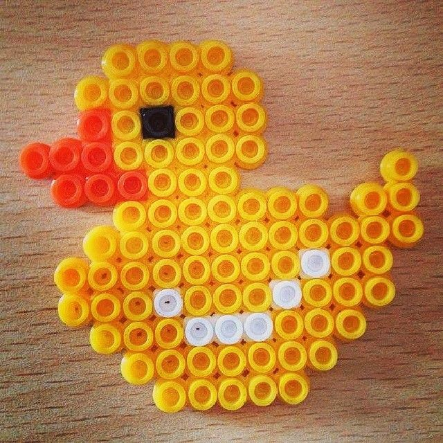 Duck perler beads by iambeader