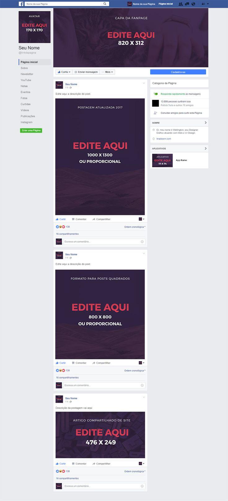Template do Novo Layout de Página do Facebook para Download