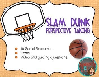 This FREEBIE download focuses on teaching identifying emotions, perspective taking and social problem solving using social scenarios.  Students are asked to define other's emotions or thoughts in a basketball themed activity. AudienceThis download is appropriate for Speech language pathologists, Social skills groups or Special educations working with students with Autism Spectrum disorders.